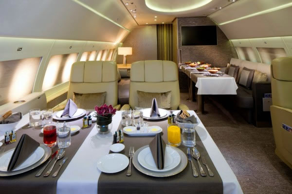 Emirates Private Jet Food