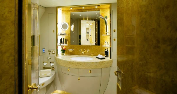 Emirates Private Jet Bathroom