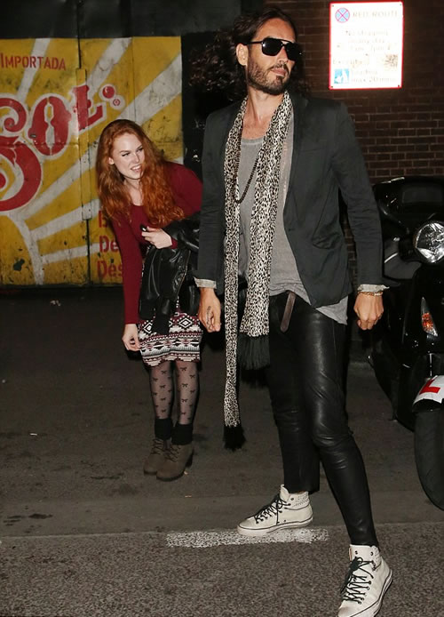 Russell Brand with Glamour Model