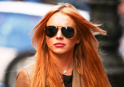 Lindsay Lohan flame haired Photo