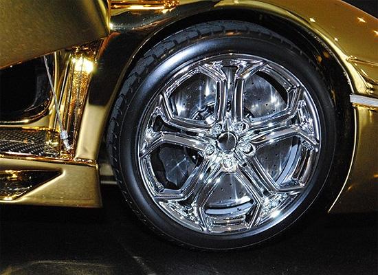 solid gold Car Wheels