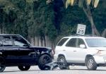 David Beckham Car Crash in front of house