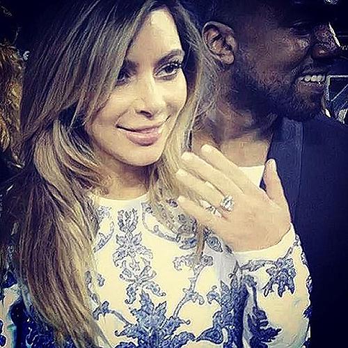 Kim Kardashian and Kanye West engagement