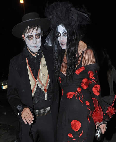 Kate Moss and Jamie Hince Halloween party