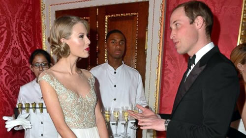 Taylor Swift met With Prince William