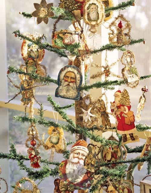 Victorian Santa Christmas tree themes