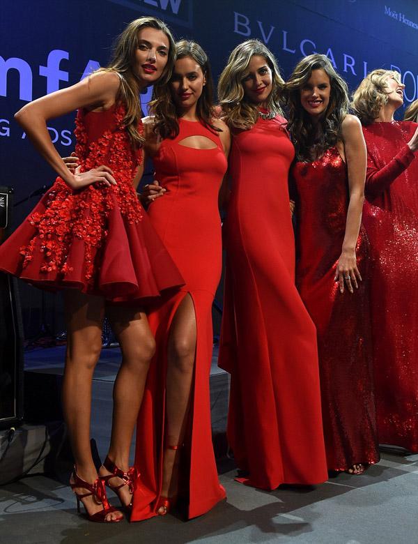 Alessandra Ambrosio red dress
