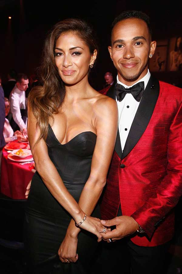 Lewis Hamilton and Nicole Scherzinger photos