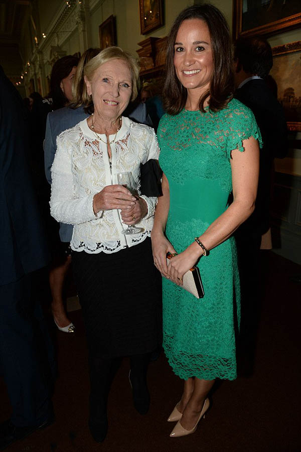 Mary Berry  and Pippa Middleton summer party