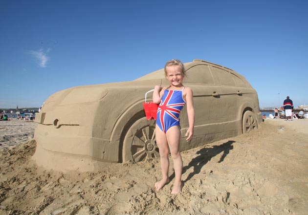 25,000 cars full of sand (inadvertently) driven away from Britis