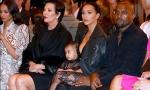 Kim Kardashian, Kanye West and North at Paris Fashion Week