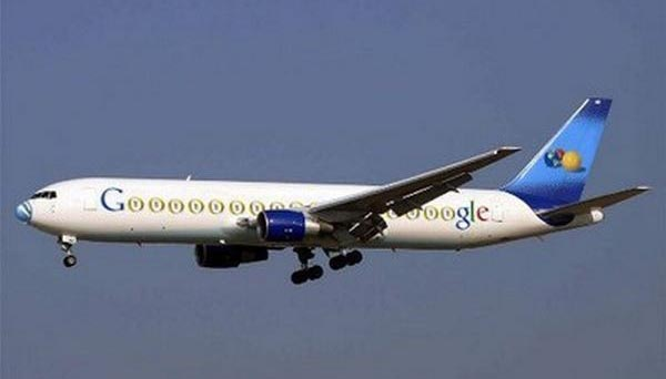 Sergey Brin and Larry Page - Boeing 767-200