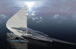 Futuristic TRIMARAN yacht