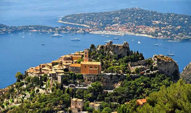 Small town Eze in France