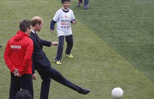 Prince William in Shanghai