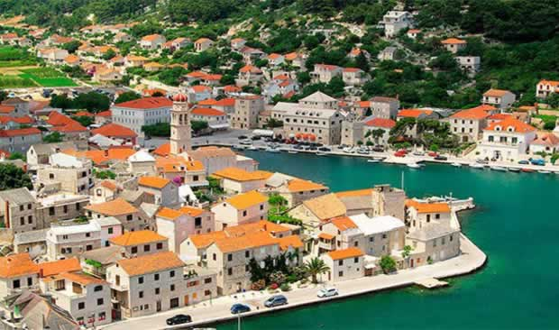 Beautiful town Pucisca in Croatia