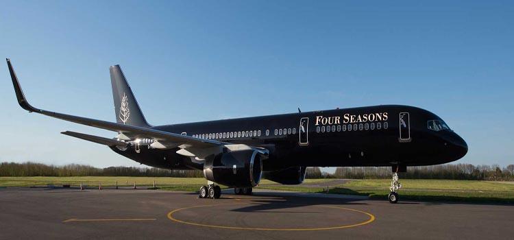 Four Seasons Private Jet inside