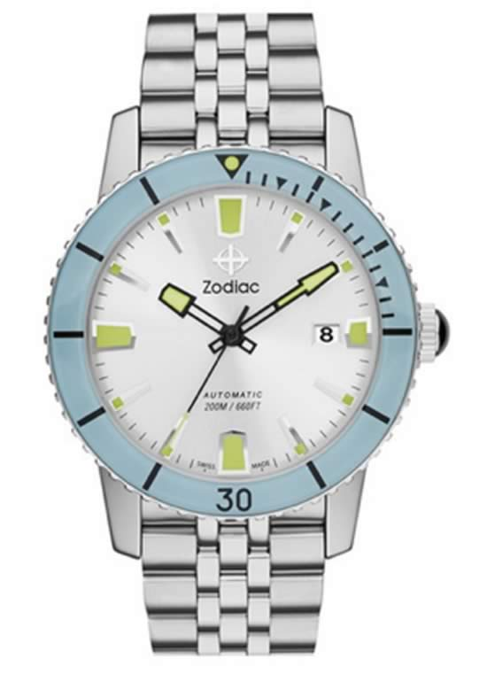 Zodiac 'Sea Wolf' Automatic Bracelet Watch for Men