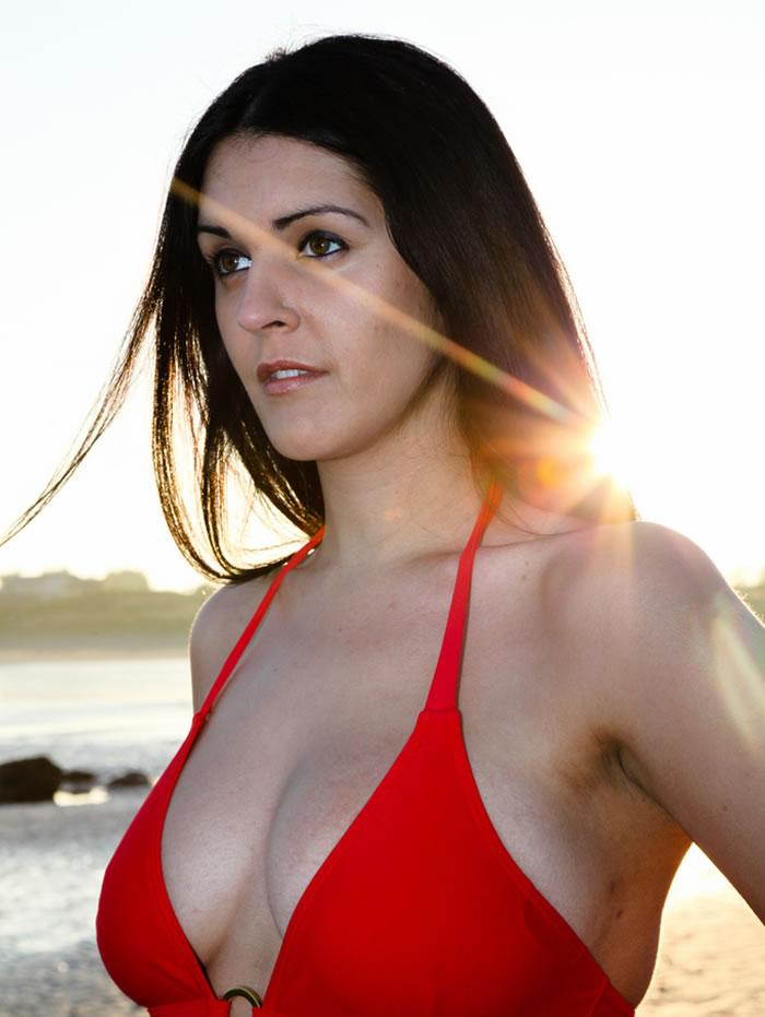 Tia Duffy Red Bikini