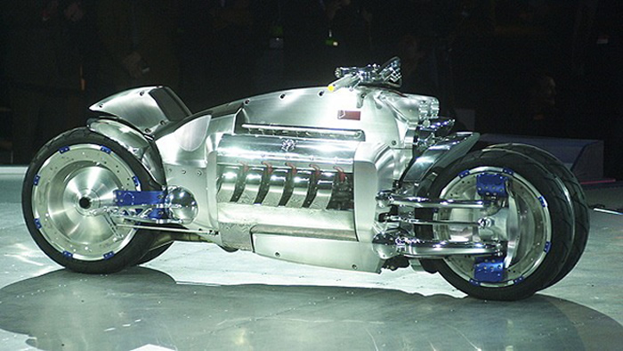 Motorcycle: Dodge Tomahawk V10 Superbike