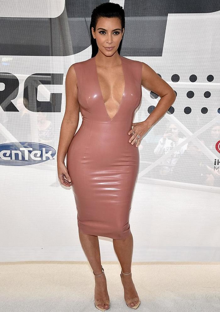 Kim Kardashian Latex Dress
