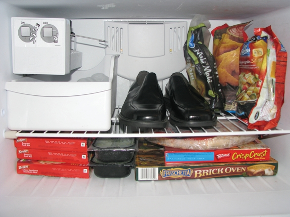 Put those stinky shoes in the freezer