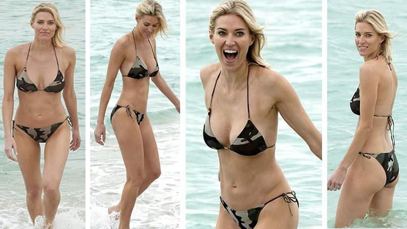 Kristen Taekman flaunts her beach body