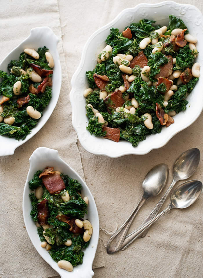 2. Kale, Bacon, and White Bean Salad