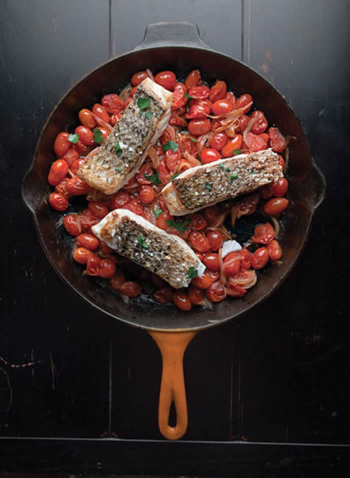 3. One-Pan Fish Fillets in Tomato Sauce