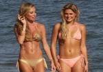 Natalie Richardson and Alex Weaver show off hot bikini bodies