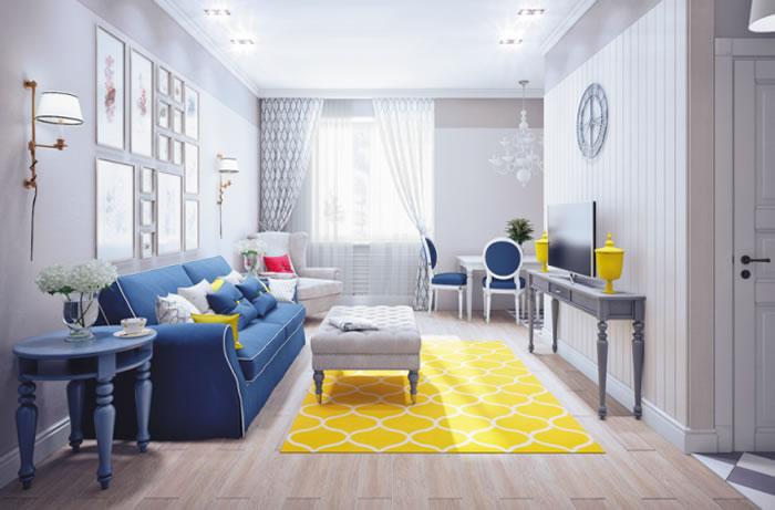 Yellow Carpet at Home
