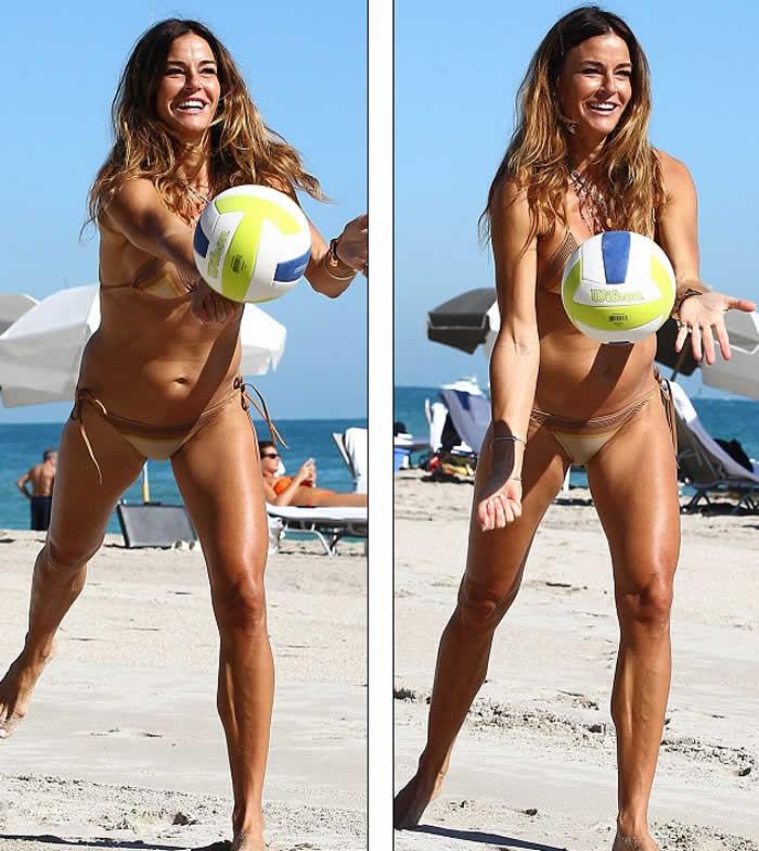 Kelly Bensimon Bikini Body in Miami Beach