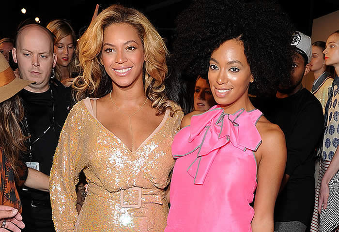 Beyonce Knowles and Sister Solange Knowles