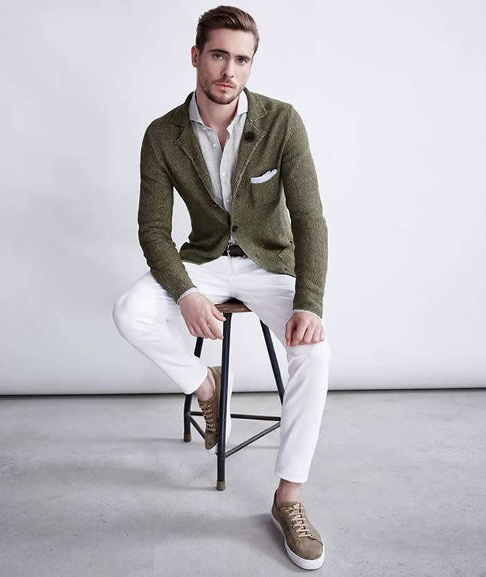 Knitted Blazer + Shirt