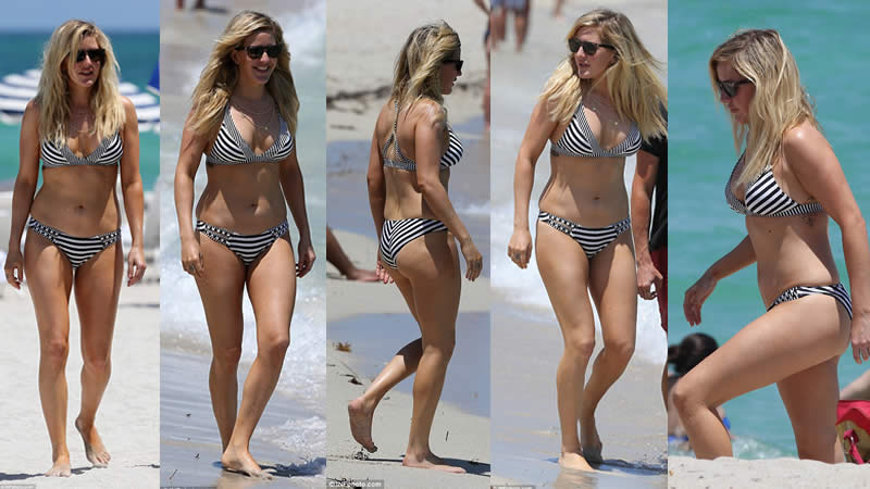 Ellie Goulding Slips into Striped Bikini During Getaway in Miami