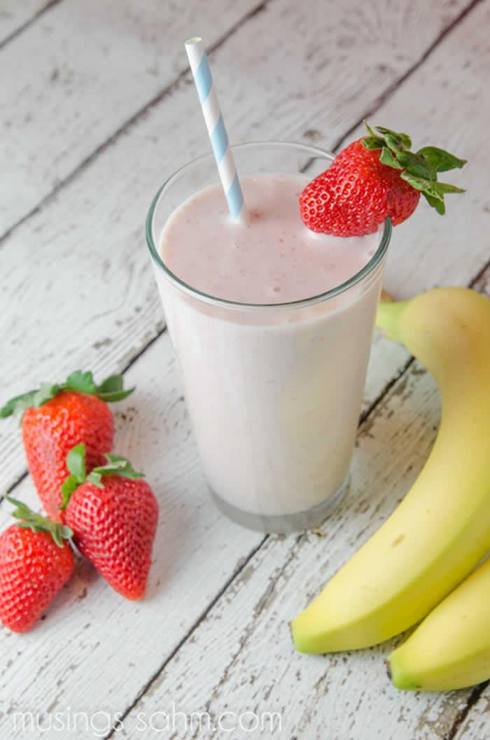 Yummy Strawberry-Banana Shake