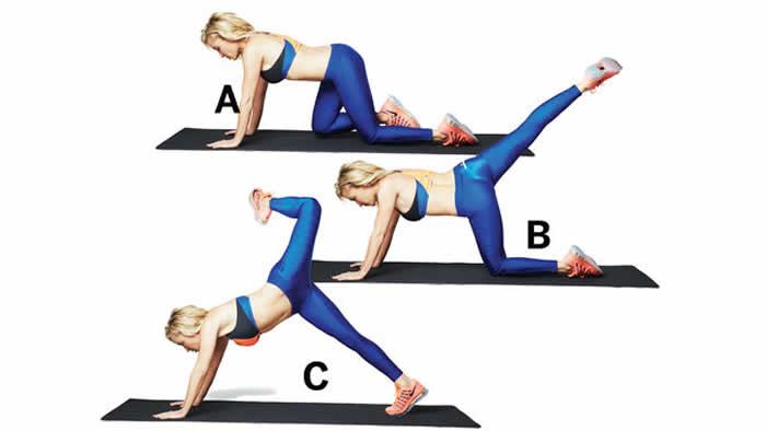 Attitude Plank with Alternating Leg