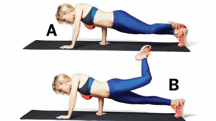 Plank Hold with Attitude Lift