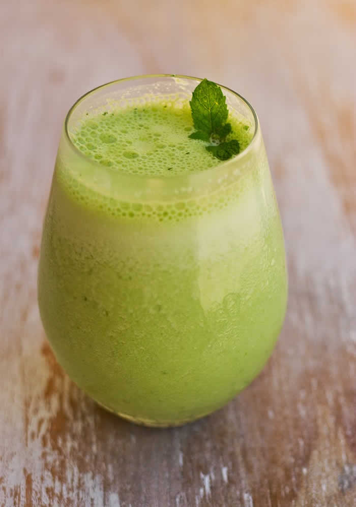 Tart Apple, Cucumber, and Mint Refresher