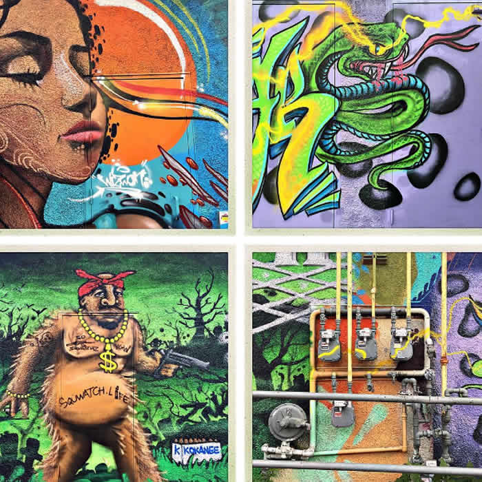 You'll be immersed in art… galleries, murals, and large roadside attractions
