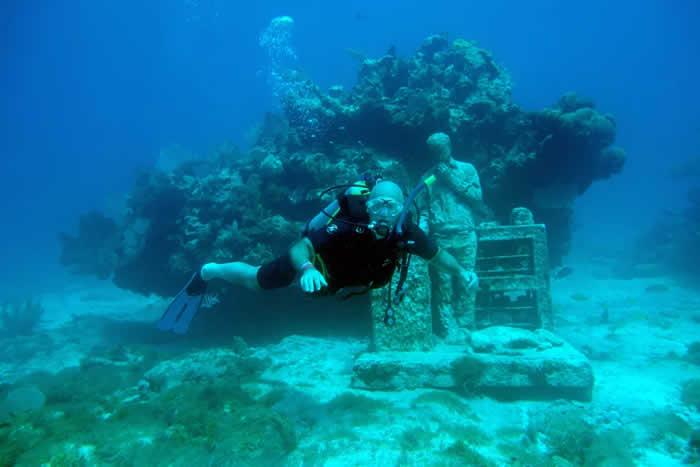 8. Scuba dive through Cancún, Mexico's, underwater museum.